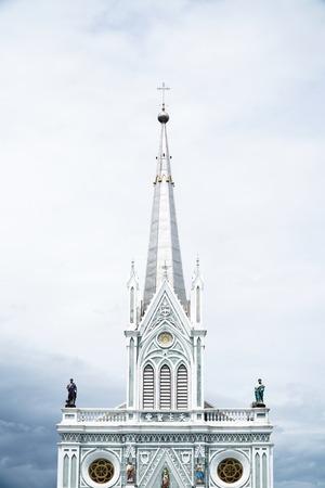 Samut Songkhram, Thailand - 1 September 2016: The Nativity of Our Lady, Cathedral (Atsana Wihan Maephra Bangkoet) is a beautiful church near Amphawa Floating Marke Stock Photo