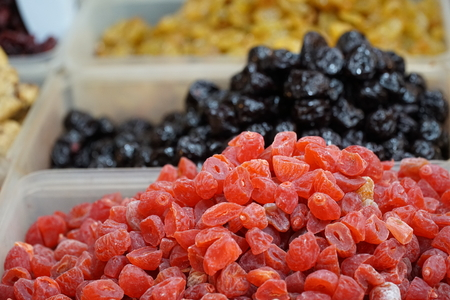 dry fruit: Dry fruit sell in market Thailand. Stock Photo