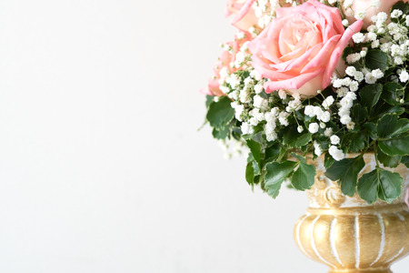 Red Rose And Pink Beautifully Arranged In A Flower Vase Have