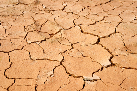Details of the ground The cracks in the soil. Due to the lack of moisture in the soil, the characteristics of the dehydrated clay are separated. Drought On the conservation of soil and water. Stock Photo
