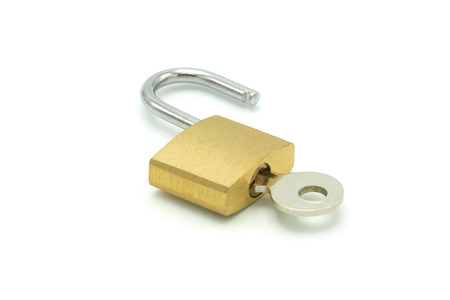 Key ring Made of brass metal. On white space for decorative images used in the article. Ideas Security. using as background business concept and Security concept with copy space.