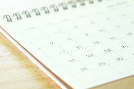 The year on Calendar. Using as background business concept and finance concept with copy space for your text or design.