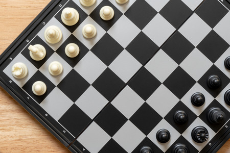 chessboard with a chess piece on the back Negotiating in business. as background business concept and strategy concept with copy space.