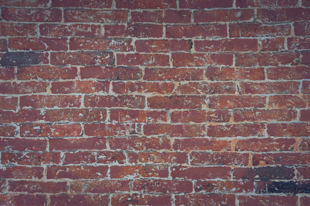 red brick wall texture grunge background with vignetted corners, may use to interior design. Interior design concept, background texture in design use. Stock Photo