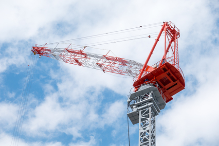 Lifting cranes for the construction industry, used for lifting up high Helps to build or transport items quickly and safely.