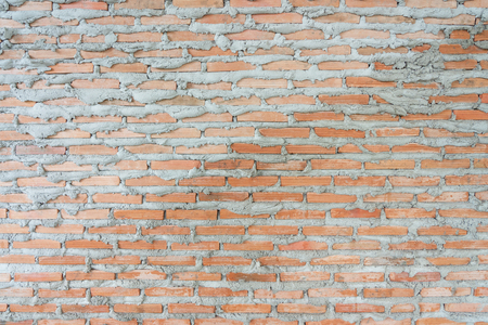 red brick wall texture grunge background. modern style background, industrial architecture detail display and montage of product. Interior design concept, background texture with copy spaces. Imagens - 124722700