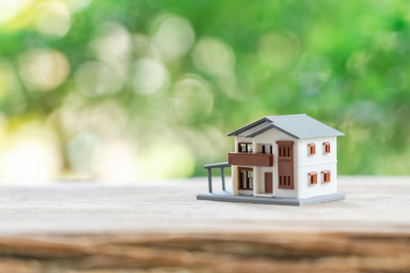 a model house model .using as background business concept and real estate concept with copy space for your text or design. Stock Photo