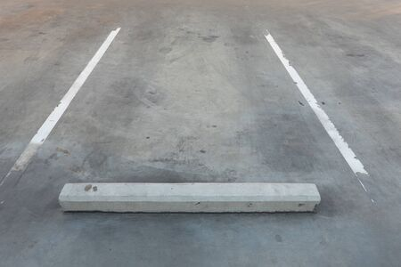 Empty Vacant parking lot/Parking garage department store with Copy Writing Space Stock Photo