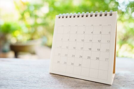 A calendar of the month. using as background business concept and Planning concept with copy spaces and white space for your text or design.