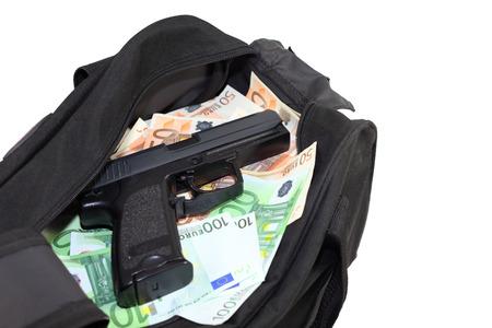 Loot from bank-robbery Standard-Bild