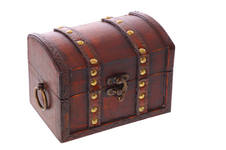 gold and silver coins: Treasure Chest Stock Photo