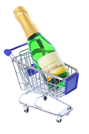 Sparkling Wine in Shopping Cart