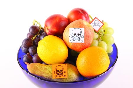 of irradiated: Poisoned fruit Stock Photo