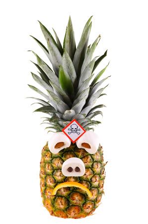 irradiated: Sad pineapple Stock Photo