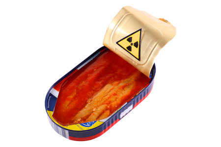 irradiated: Contaminated fish