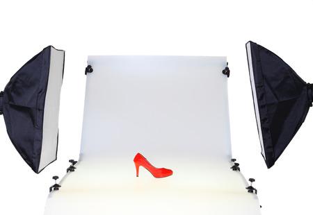 Photo table in the photo studio Standard-Bild