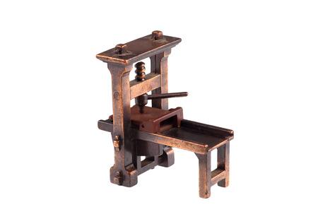 gutenberg: Old printing press
