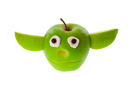 ritagliare: Divertente Apple - Yoda tagliato Archivio Fotografico