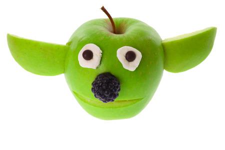 Funny Apple cartoon face