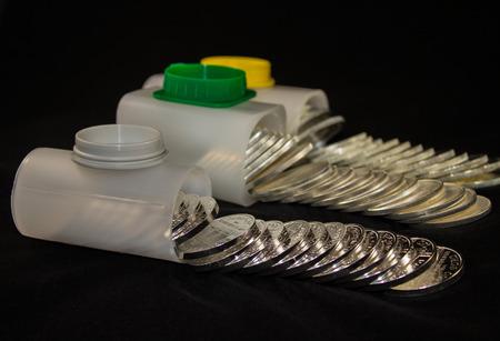 Silver bullion coins in tubes