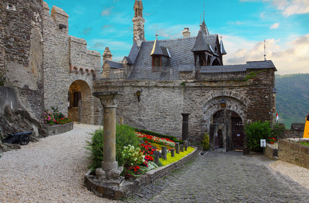 courtyard: Courtyard of the Imperial Castle in Cochem Editorial