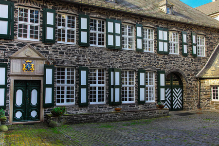 town idyll: Old farm, old yard in Altena-Germany Editorial