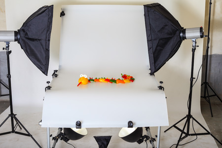 Photo Table for product photography in a studio Banco de Imagens