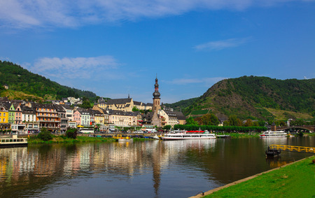 Cochem on the Moselle in Germany Standard-Bild