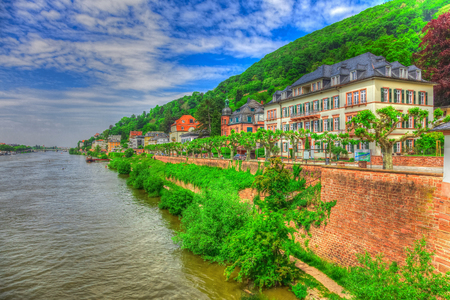 philosopher's: Heidelberg in Germany on the Neckar - HDR picture Editorial