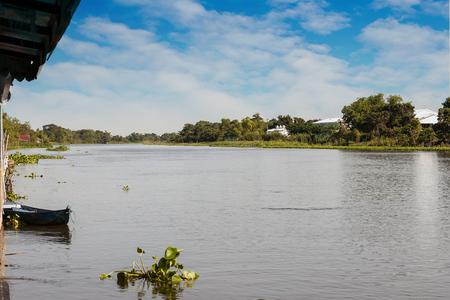 nakhon: Along the river Nakhon Chai Si Stock Photo
