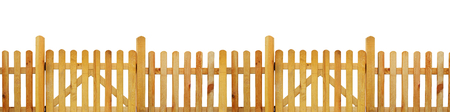 picket fence: Picket fence, garden fence - isolated