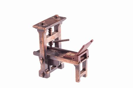 グーテンベルク分離によって最初の印刷機 写真素材
