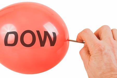 dow: Bursting of the Dow Jones bubble