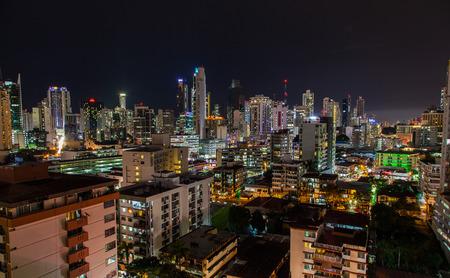 View of Panama City at night.
