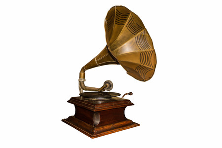Old gramophone - cut out