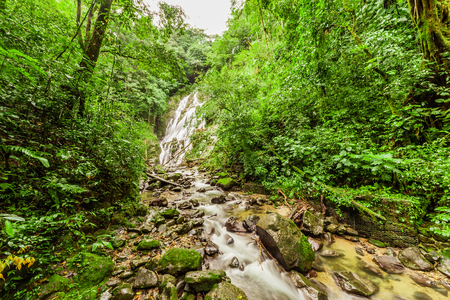 anton: Chorro el Macho, a waterfall in El Valle de Anton, Panama Stock Photo
