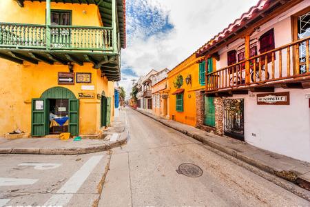 カルタヘナ、コロンビア - 2016 年 11 月 13 日: 古い町のカルタヘナ、独自のアーキテクチャを持つ。