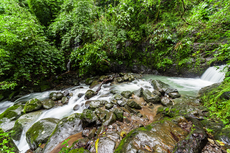 anton: Chorro Las Mosas waterfalls, along the Rio Anton in El Valle de Anton - Panama