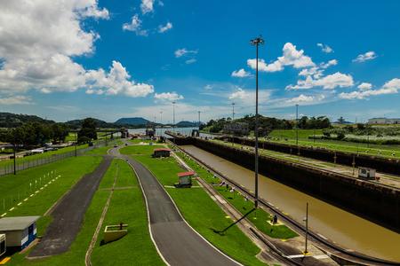 Miralflores locks at the Panama Canal. Editorial
