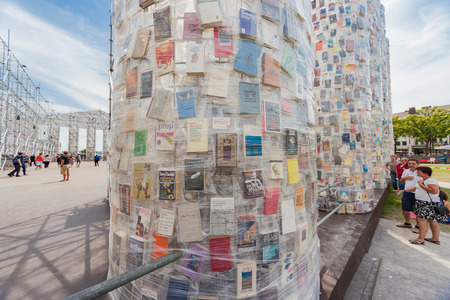 Kassel, Germany - June 15, 2017: The Documenta in Kassel takes place every five years and lasts three months.