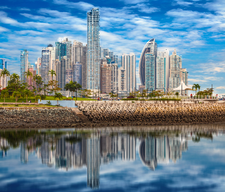 Skyline of Panama City - Composing 版權商用圖片 - 85228234