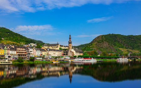 Cochem on the Mosel in Germany Editorial