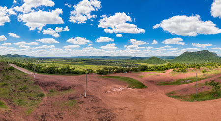 Vertical panorama, photographed from the Cerro Pero in Paraguay.