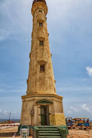 Aruba, Caribbean - April 03, 2014: The old California lighthouse on Aruba before its restoration.