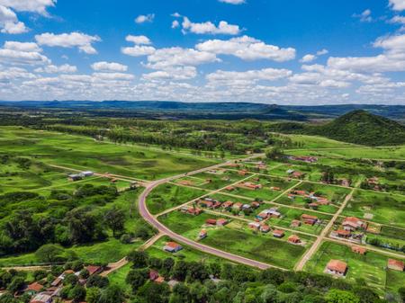 Aerial view of a village near Praguari in Paraguay. Reklamní fotografie