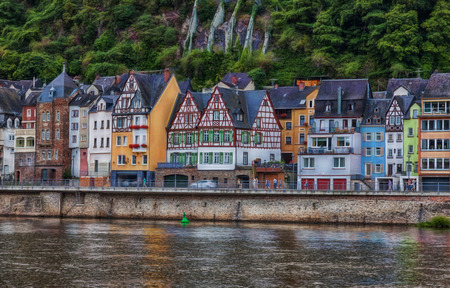 View over the Moselle to the old town of Cochem.