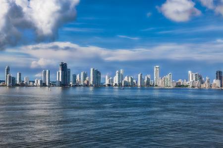 Skyline of the new city of Cartagena in Colombia. Reklamní fotografie