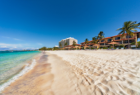 Seven mile beach on Grand Cayman in the Caribbean.