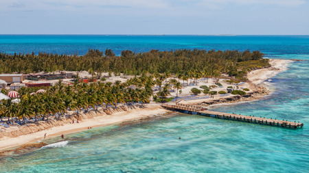 Aerial view of the Grand Cru in the Caribbean. Reklamní fotografie