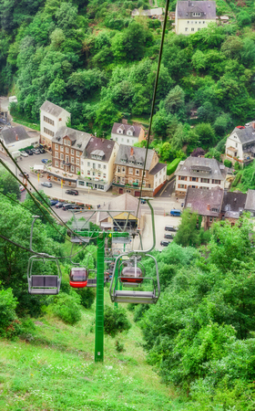 Funicular, cable railway in Cochem on the Moselle Reklamní fotografie